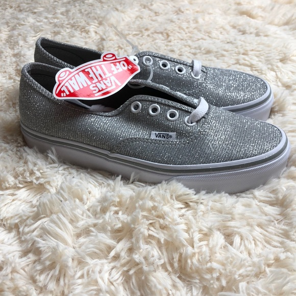 bd127d1a3b7f00 Vans authentic shimmer silver